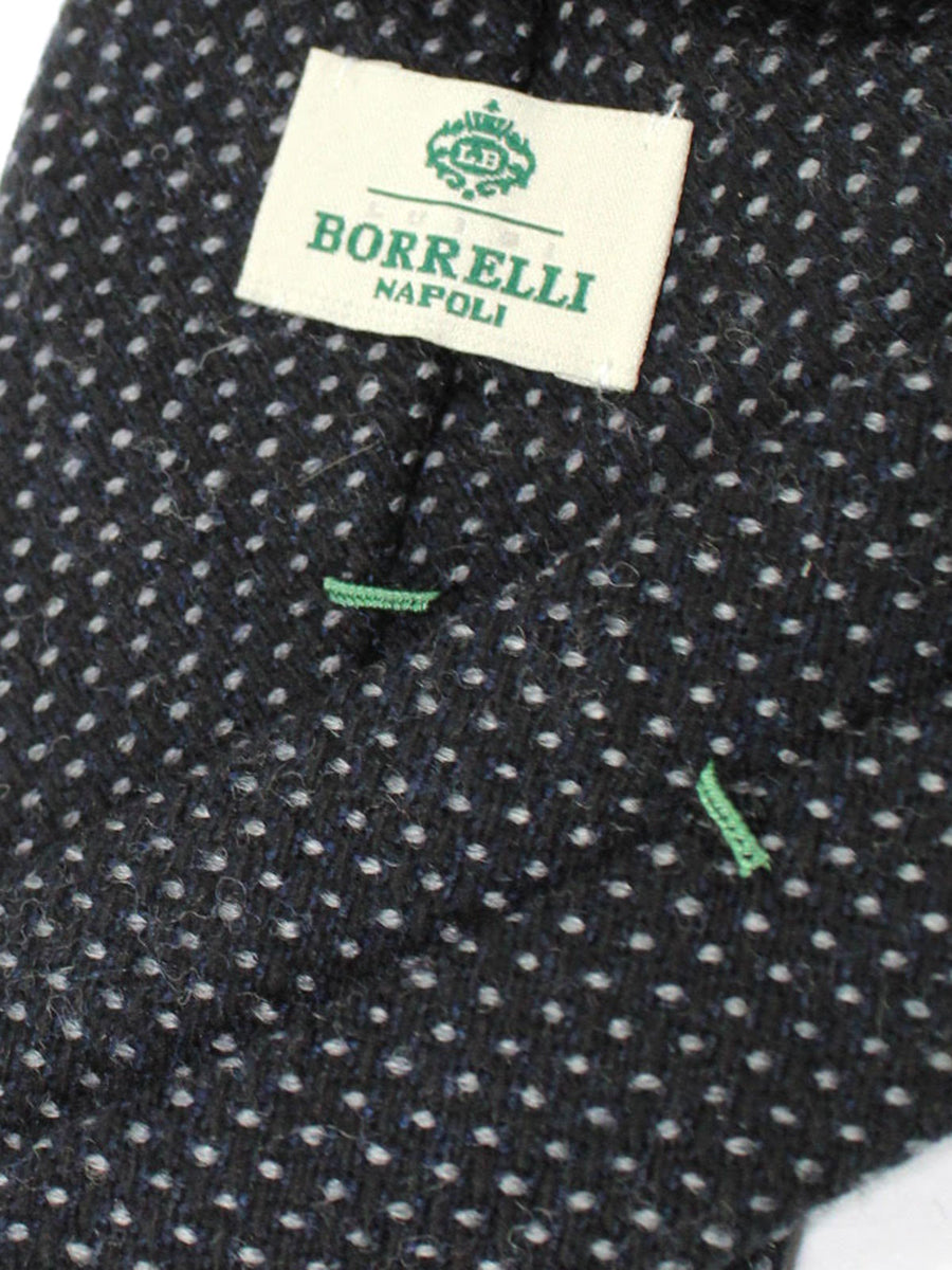 Luigi Borrelli Tie Black Gray Dots