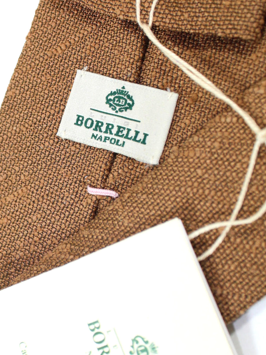 Luigi Borrelli Silk Tie Brown Solid
