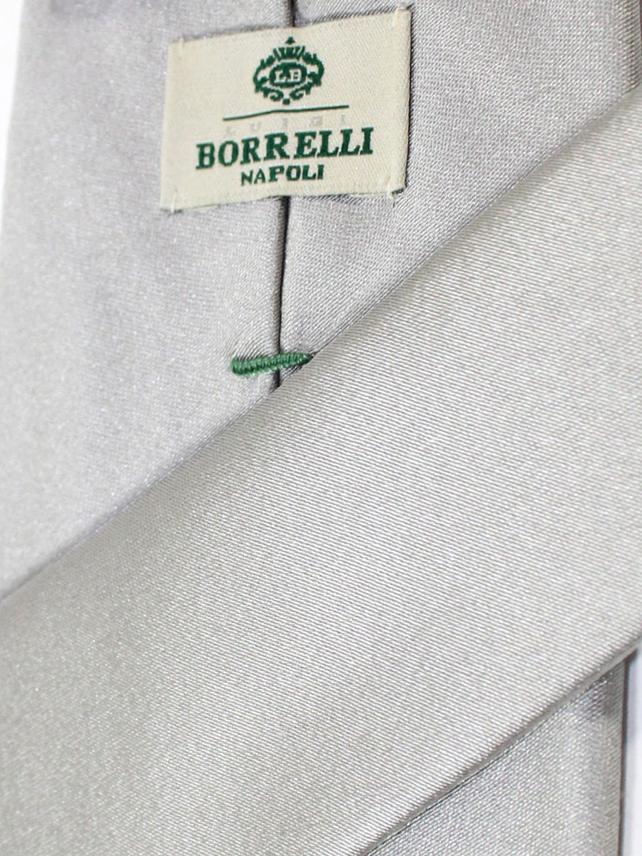 Luigi Borrelli Silk Tie Gray Solid Design