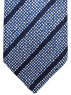 Luigi Borrelli Silk Tie Royal Gray Black Stripes Design
