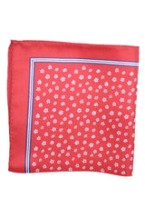 Luigi Borrelli Pocket Square Red White