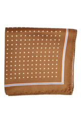 Luigi Borrelli Silk Pocket Square Brown