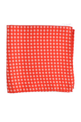 Luigi Borrelli Pocket Square Red White Dots Circles