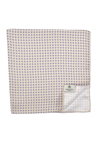 Luigi Borrelli Pocket Square Off White Navy Pink SALE