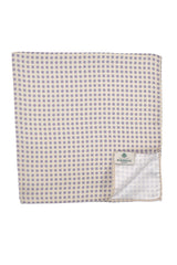 Luigi Borrelli Pocket Square Off White Blue