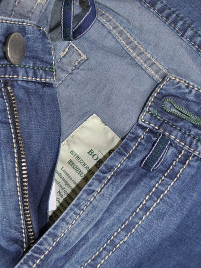 Luigi Borrelli Jeans Medium Denim Blue Zip Fly