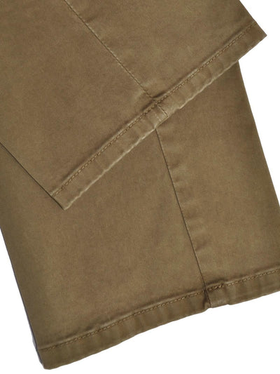 Luigi Borrelli Pants Olive Brown Trousers Slim Fit