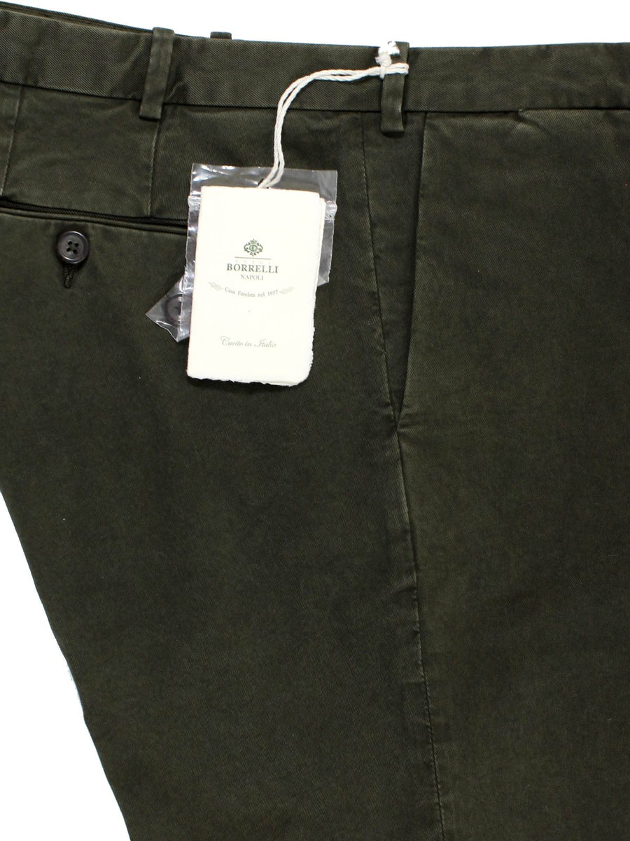 Luigi Borrelli Casual Pants Forest Green Slim Fit 34