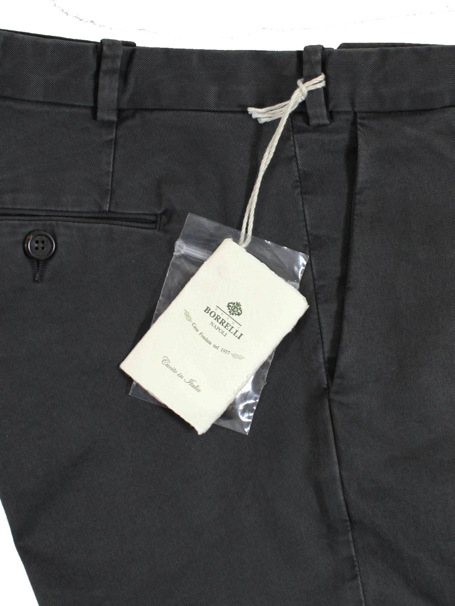 Luigi Borrelli Casual Pants Charcoal Gray Slim Fit 32