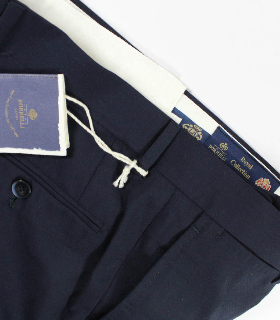 Borrelli Dress Pants Midnight Blue ROYAL COLLECTION