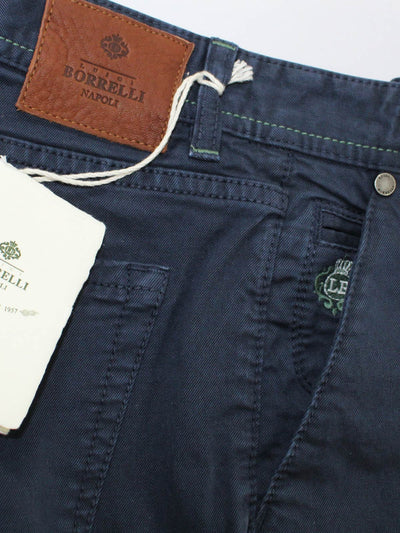Borrelli Pants Navy - Slim Fit