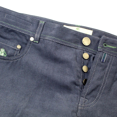 Luigi Borrelli 5 Pocket Pants Metal Gray Slim Fit 36 SALE
