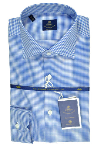 Luigi Borrelli Shirt Royal Collection White Navy Check 43 - 17