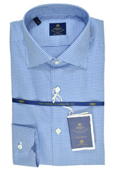 Luigi Borrelli Shirt Royal Collection White Navy Check 40 - 15 3/4