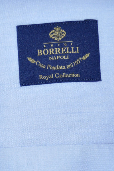 Luigi Borrelli Dress Shirt ROYAL COLLECTION Solid Blue