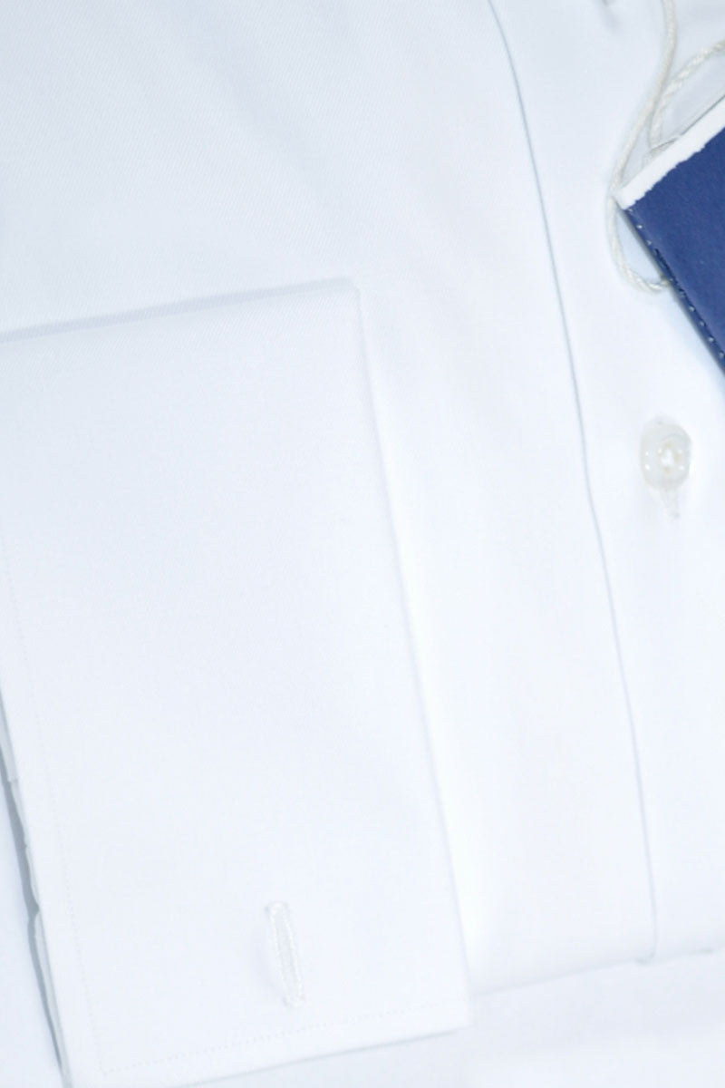 Luigi Borrelli Shirt Royal Collection White French Cuffs