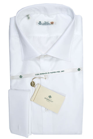 Luigi Borrelli Shirt Royal Collection White French Cuffs 39 - 15 1/2 SALE