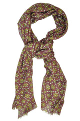 Borrelli Scarf Wool Blend Purple