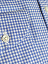 Luigi Borrelli Dress Shirt ROYAL COLLECTION White Royal Blue Houndstooth 39 - 15 1/2