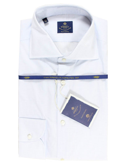 Luigi Borrelli Shirt ROYAL COLLECTION White Navy Grid