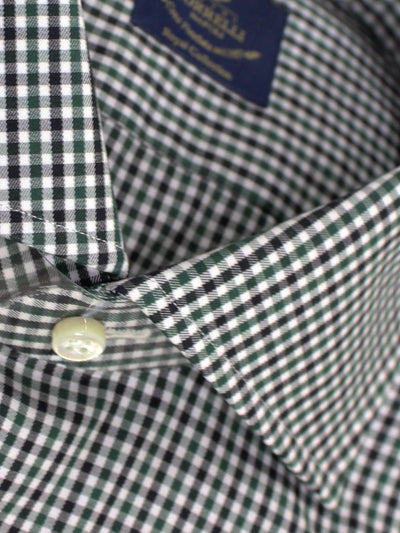 Borrelli Shirt Royal Collection White Green Black
