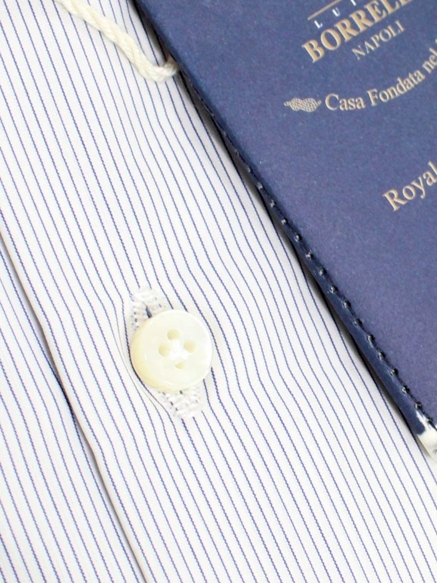 Luigi Borrelli Dress Shirt ROYAL COLLECTION Royal Blue Navy