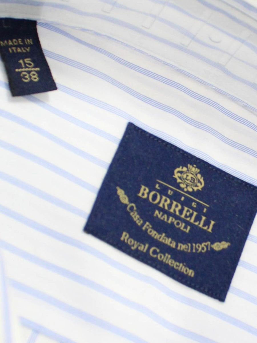 Luigi Borrelli Dress Shirt ROYAL COLLECTION White Blue