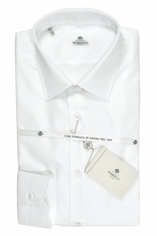 Luigi Borrelli Dress Shirt White 39 - 15