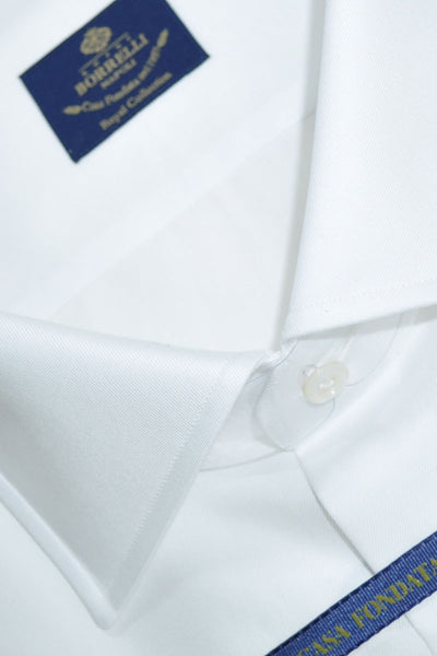 Luigi Borrelli Shirt ROYAL COLLECTION White 42 - 16 1/2