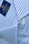 Luigi Borrelli Shirt ROYAL COLLECTION White Navy Stripes Regular Fit