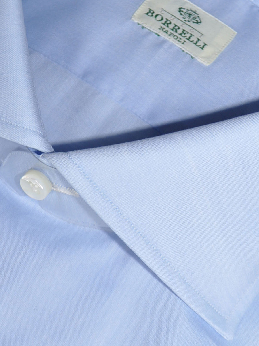 Luigi Borrelli Dress Shirt Light Blue New