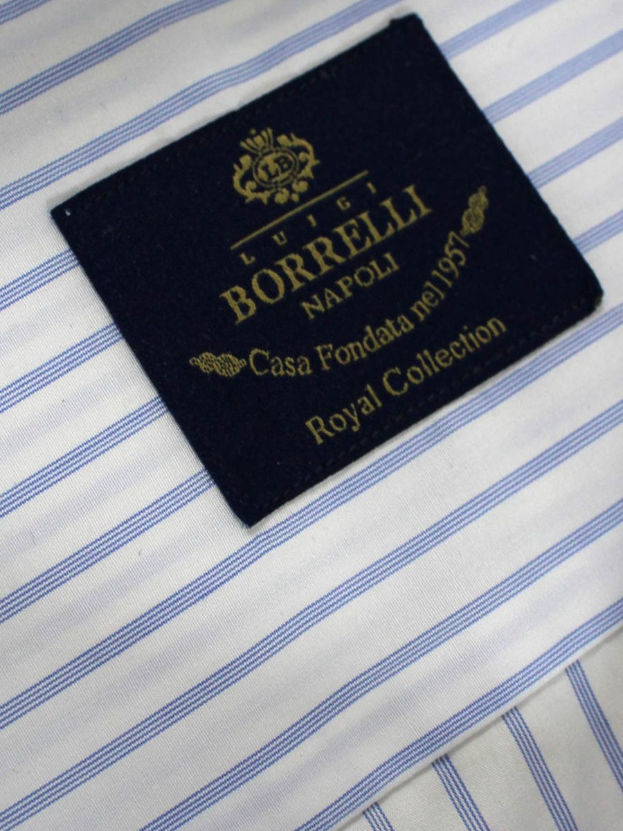Luigi Borrelli Shirt ROYAL COLLECTION White Royal Blue
