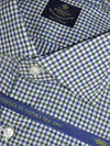 ROYAL COLLECTION Classic White Navy Green Check