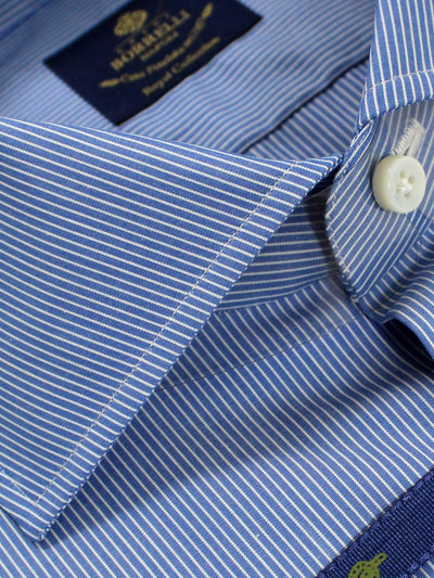 Luigi Borrelli Dress Shirt ROYAL COLLECTION - Blue White