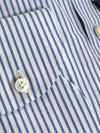Luigi Borrelli Dress Shirt White Navy Stripes ROYAL COLLECTION