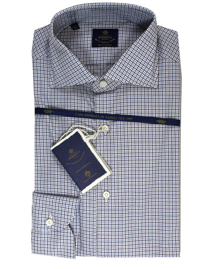 Luigi Borrelli Dress Shirt ROYAL COLLECTION - White Blue Black
