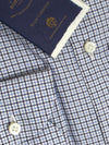 Luigi Borrelli Dress Shirt ROYAL COLLECTION White Blue Black Tattersall Check 41 - 16 SALE