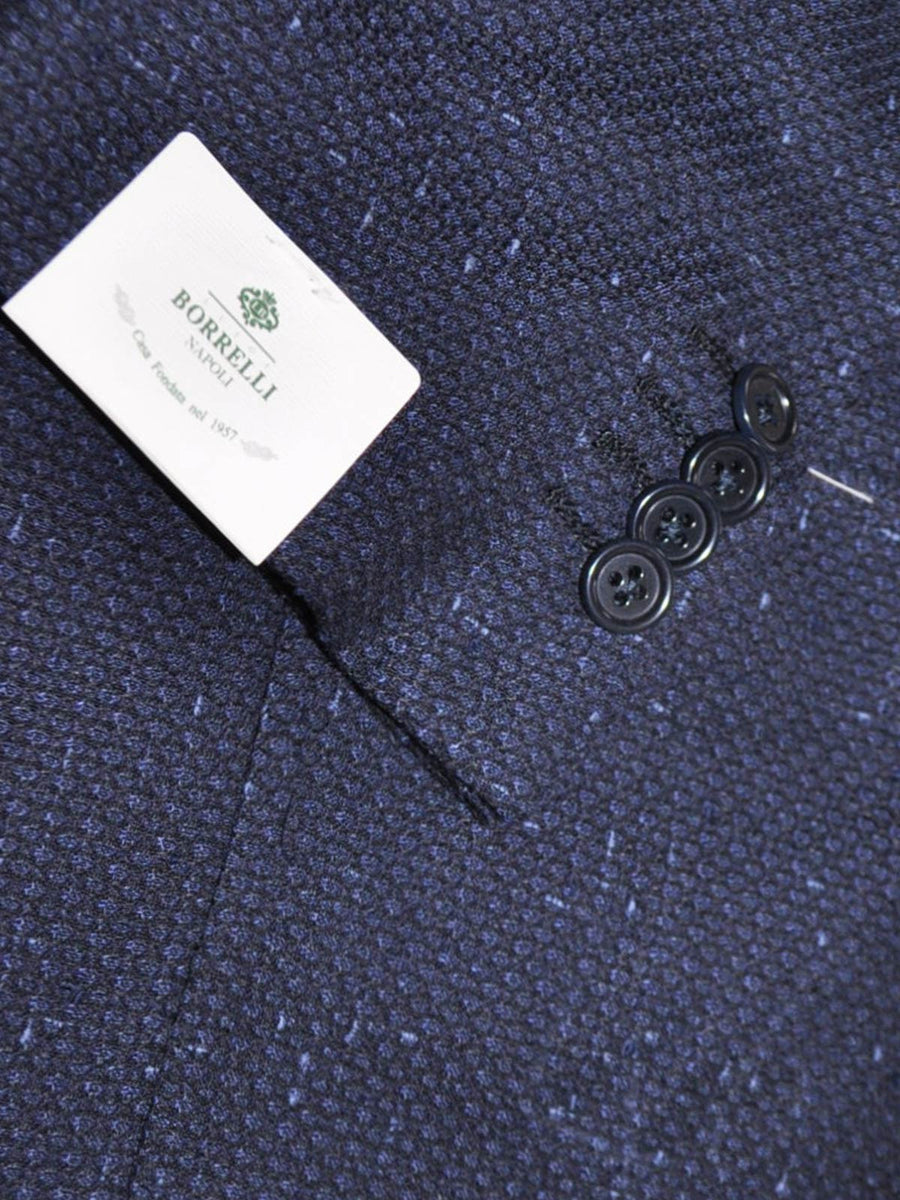 Luigi Borrelli Sport Coat Dark Blue Navy Linen Wool