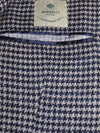 Luigi Borrelli Sport Coat Gray Midnight Blue Houndstooth