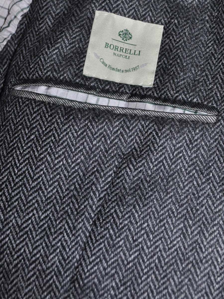 Luigi Borrelli Sport Coat Charcoal Gray Herringbone