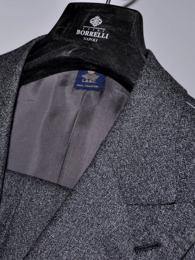 Luigi Borrelli Suit ROYAL COLLECTION Charcoal Gray Double Breasted EUR 54 R / US 44