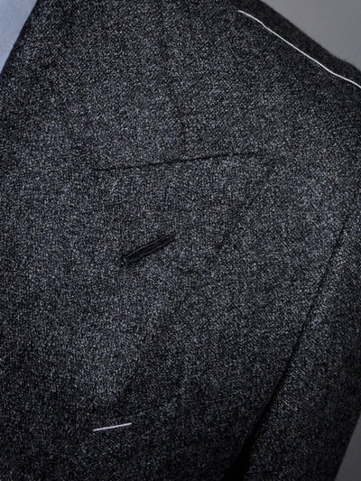 Borrelli Suit ROYAL COLLECTION Charcoal Gray Lapel