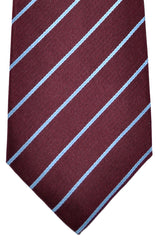 Luigi Borrelli Tie Burgundy Stripes SALE