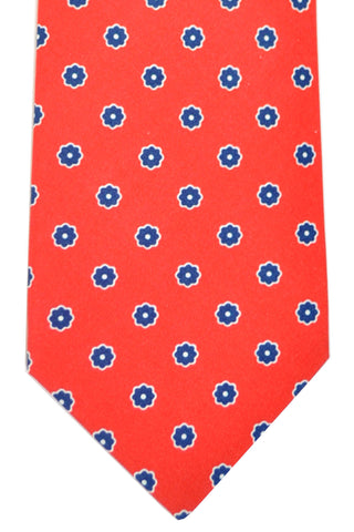 Luigi Borrelli Sevenfold Tie ROYAL COLLECTION Red Navy SALE