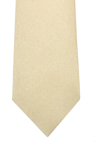 Luigi Borrelli Narrow Tie Cream Logo Luxury Vintage - FINAL SALE