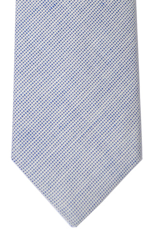 Luigi Borrelli Sevenfold Tie ROYAL COLLECTION Navy White - SALE