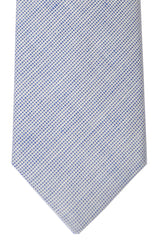 Borrelli Sevenfold Tie ROYAL COLLECTION Navy White