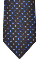 Luigi Borrelli Tie Brown Navy Blue
