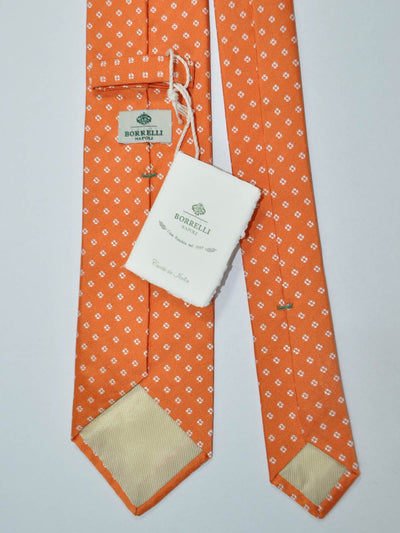 Luigi Borrelli Tie Orange Silver Design