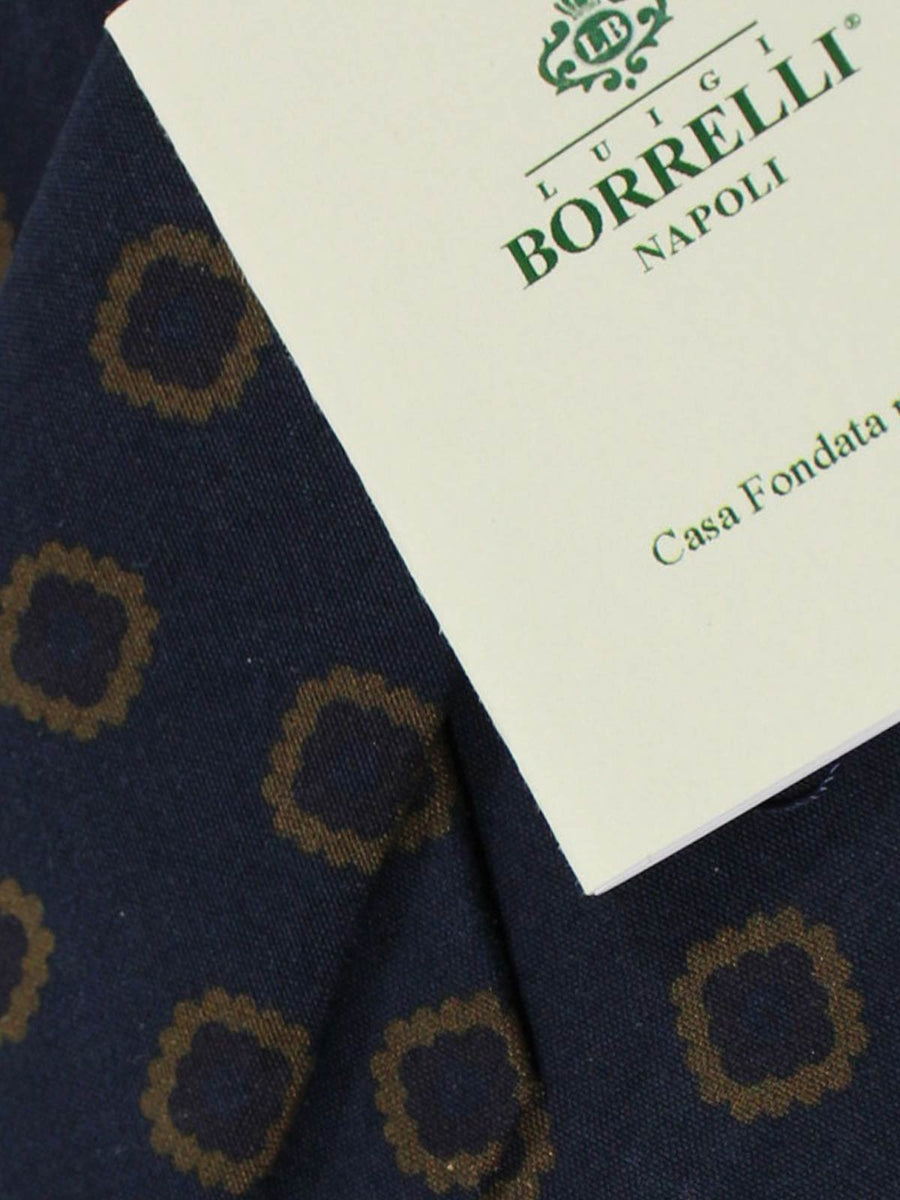 Luigi Borrelli Narrow Tie Navy Brown